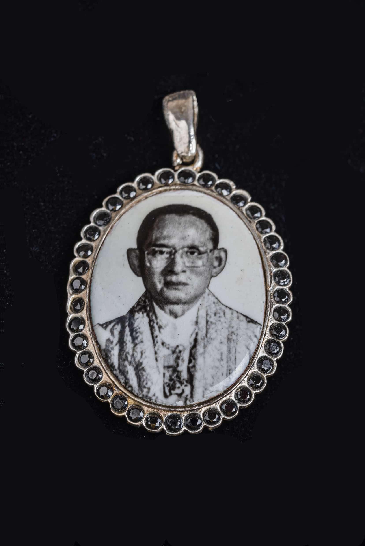Anhänger mit dem Bild seiner MajestätKönig Bhumibol Adulyadej