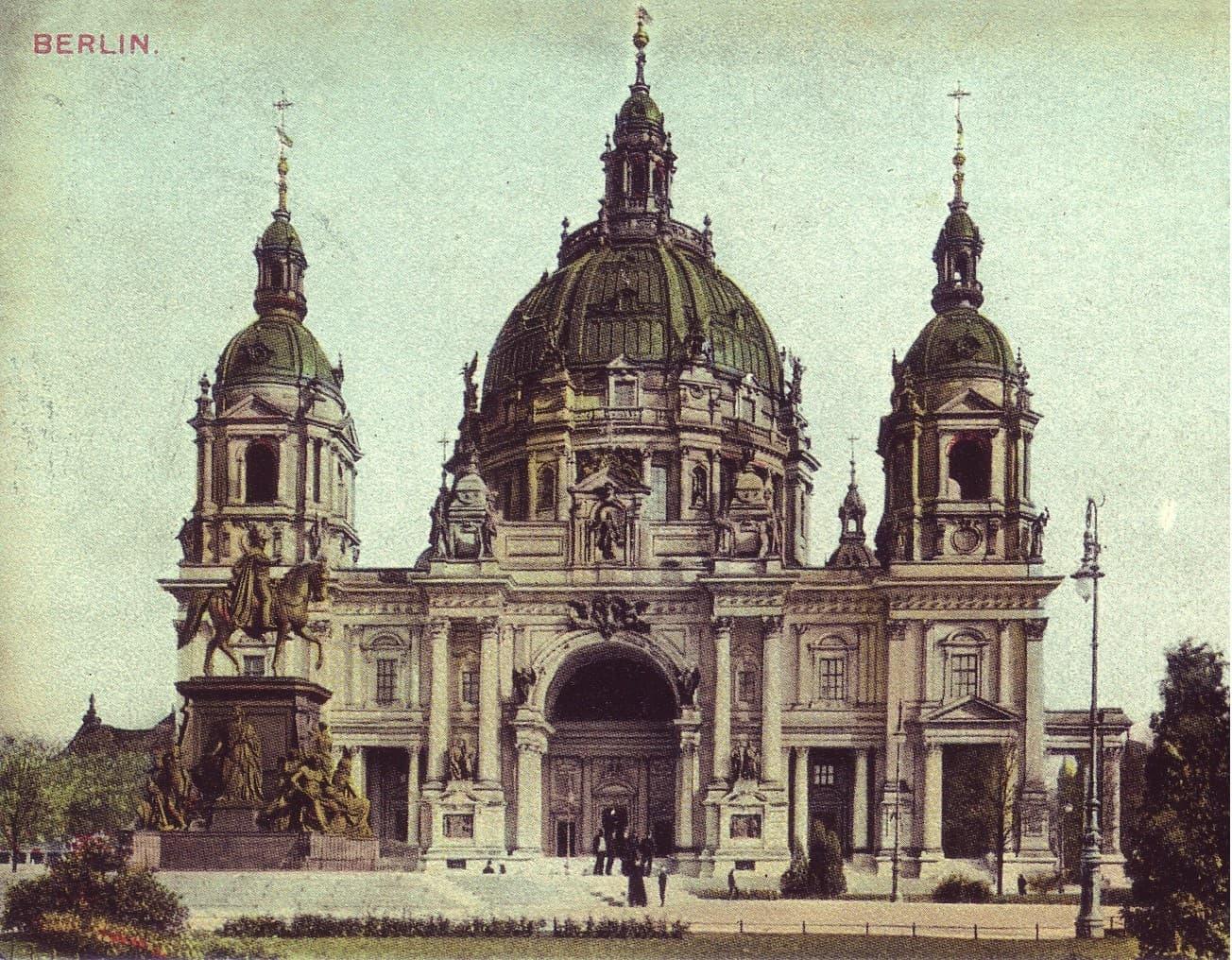 Postkarte vom Berliner Dom 1900