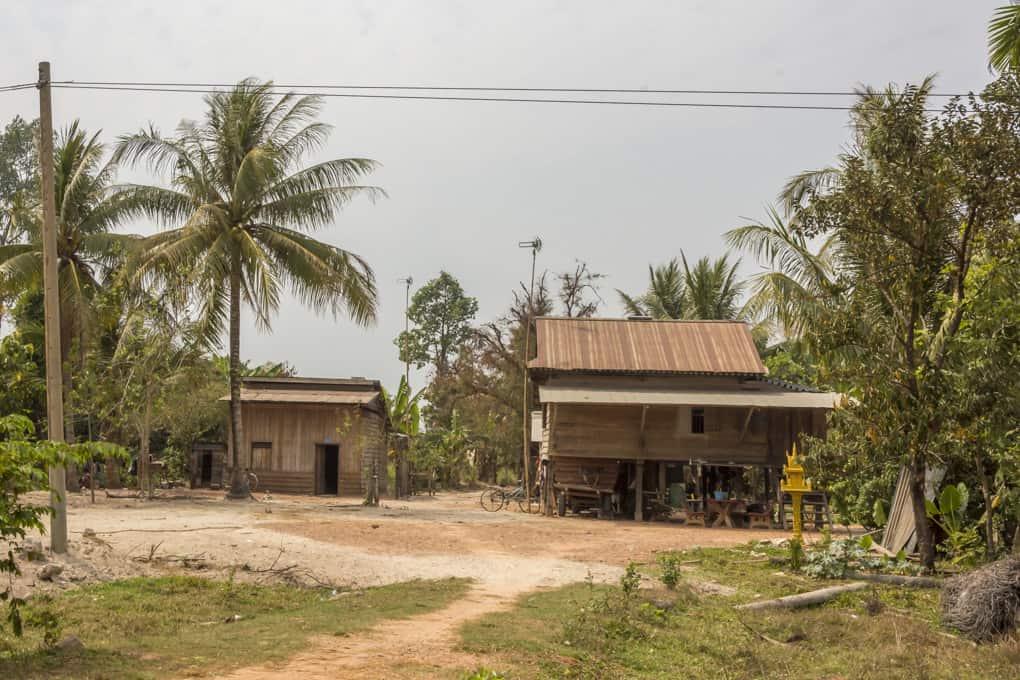 Gebäude der Landbevölkerung in Kambodscha