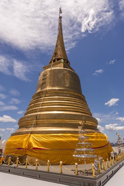 Der goldene Chedi auf dem Golden Mount in Bangkok