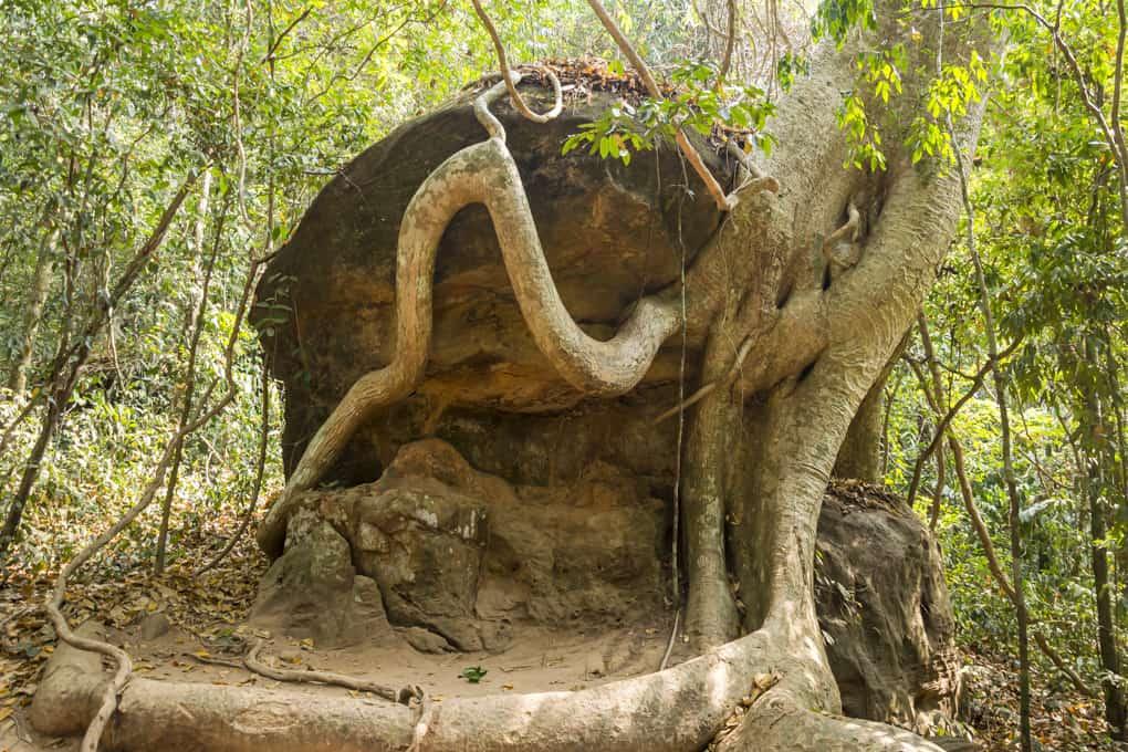 Felsformationen am Weg nach Kbal Spean