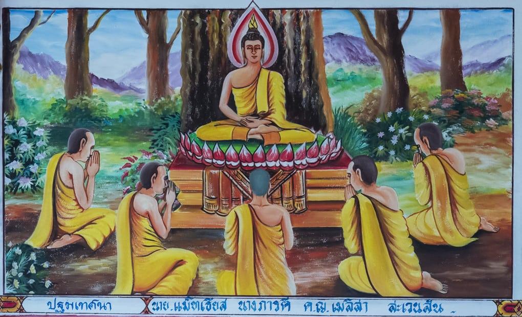 Buddhas erste Predigt im Tierpark