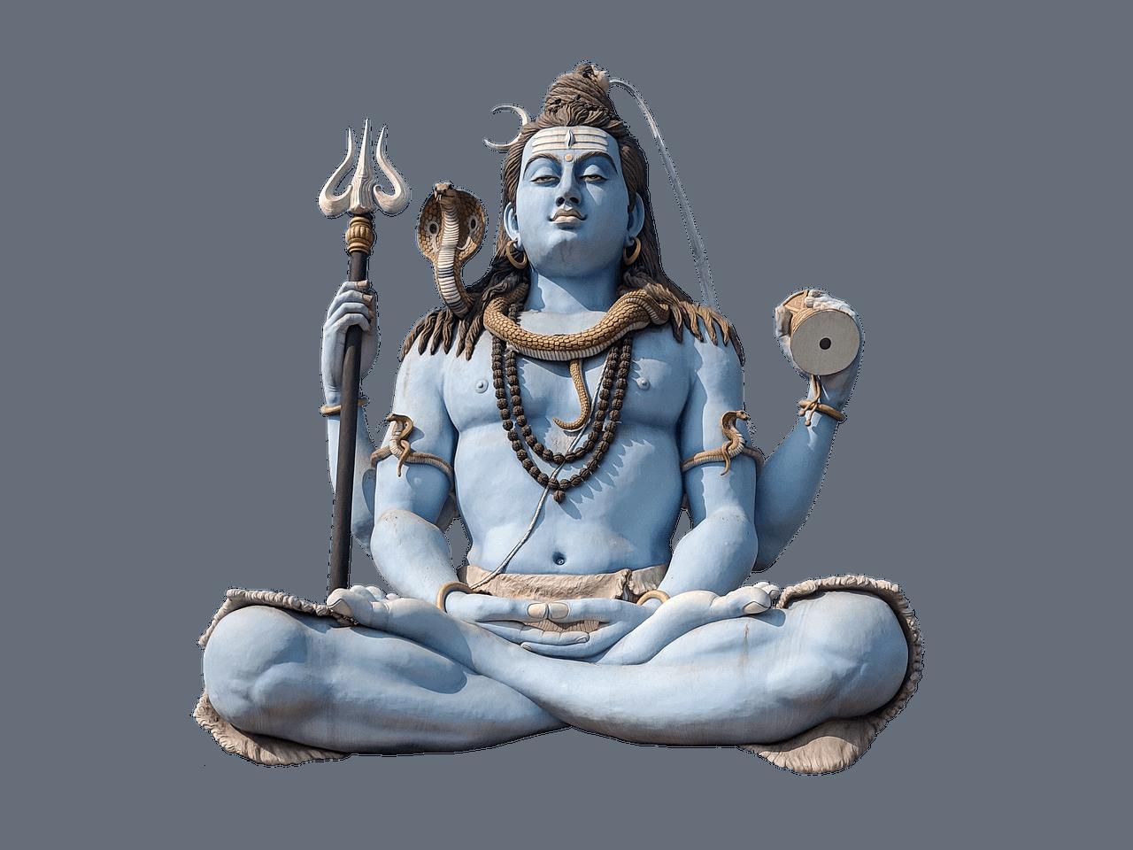 Im Lotussitz sitzende Shiva