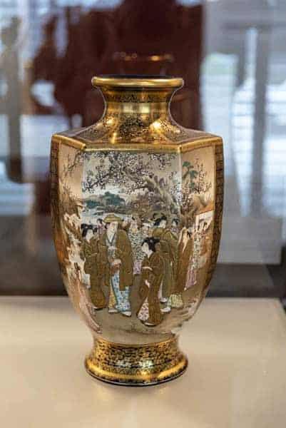 Japanische Vase mit Vergoldung
