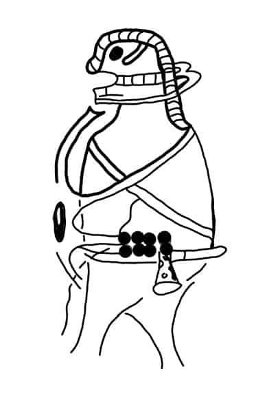 Felsenzeichnung am Khao Kien nach Heinrich Kusch 1975 vom Autor gezeichnet