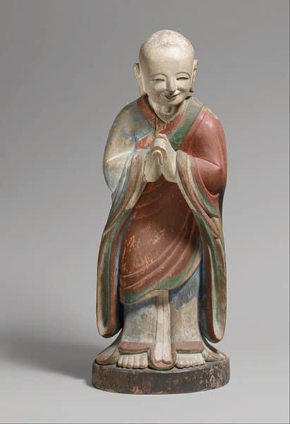 Kleine Statuette von Kashyapa den Buddha der Vergangenheit - Die drei Buddhas der Zeiten