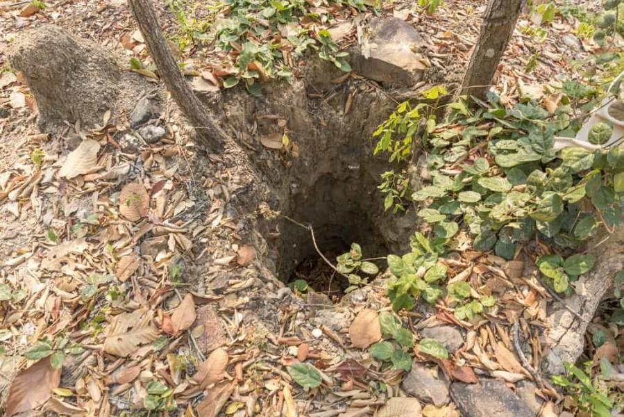 Reste eines Brunnens zur Wasserversorgung der Mönche im Wat Aranyik